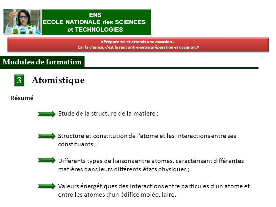 Atomistique I.Structure de la matière : Latome II.
