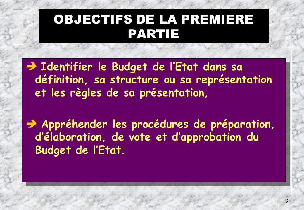 2 PREMIERE PARTIE LES REGLES DE PRESENTATION, DELABORATION ET DE VOTE DU BUDGET DE LETAT