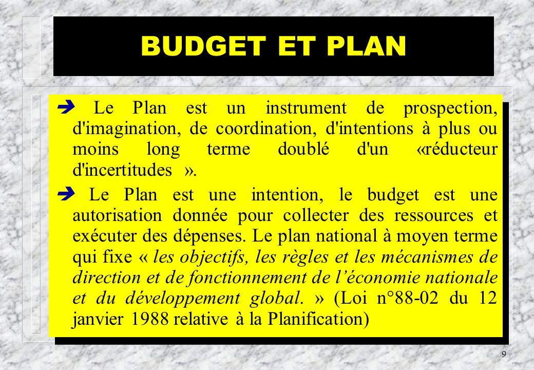 8 Budget, Budget National et Budget Social Dans ces notions, le mot « budget » n a pas le même sens.