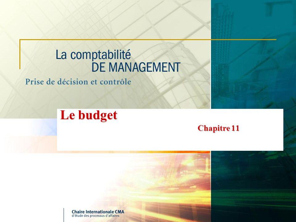 Le budget Chapitre 11