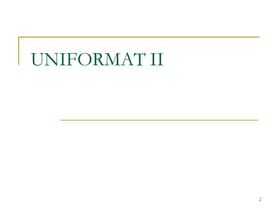 2 UNIFORMAT II