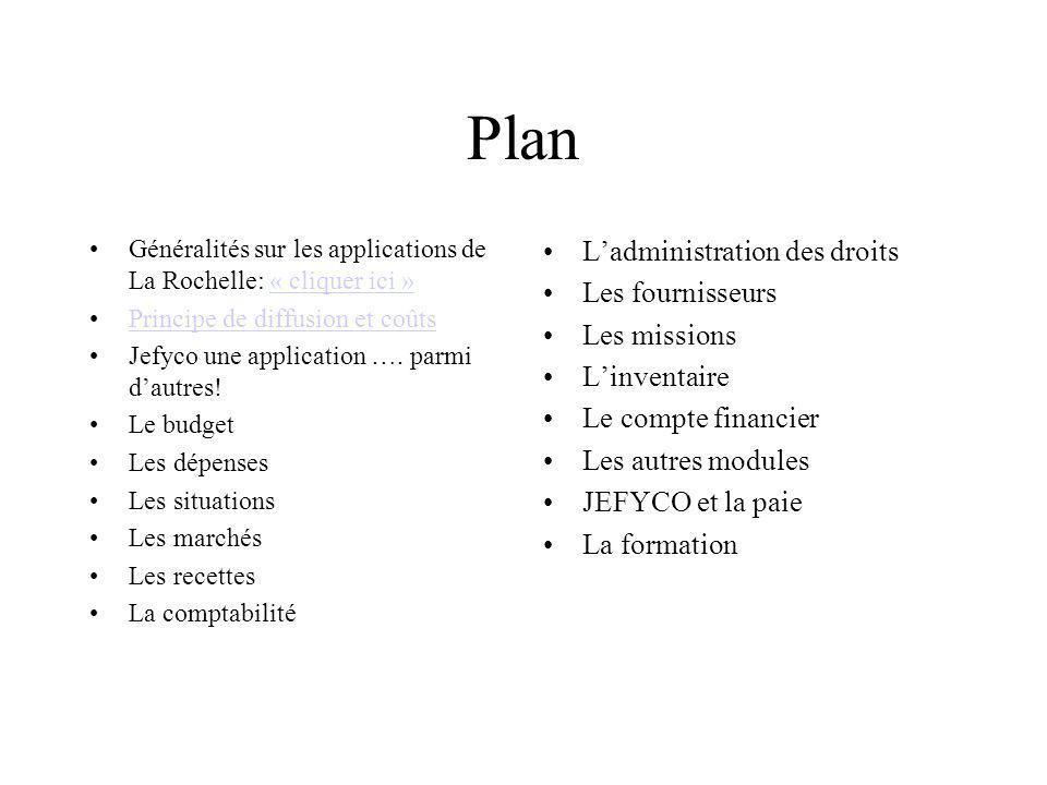 Plan Généralités sur les applications de La Rochelle: « cliquer ici »« cliquer ici » Principe de diffusion et coûts Jefyco une application …. parmi da