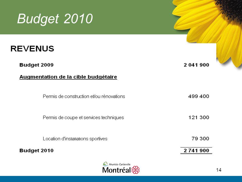 14 Budget 2010