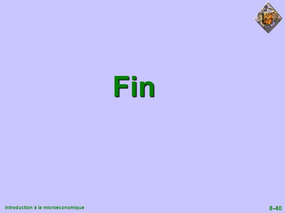 Introduction à la microéconomique 8-40 Fin Fin