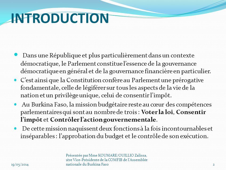 INTRODUCTION Dans une République et plus particulièrement dans un contexte démocratique, le Parlement constitue lessence de la gouvernance démocratiqu