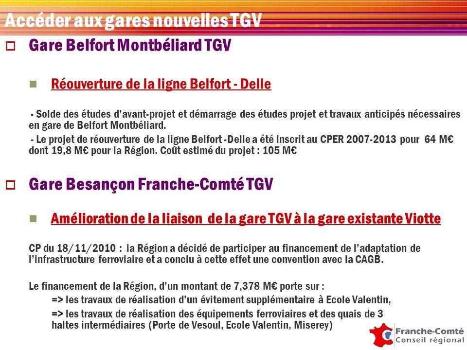 Gare Belfort Montbéliard TGV Réouverture de la ligne Belfort - Delle - Solde des études davant-projet et démarrage des études projet et travaux anticipés nécessaires en gare de Belfort Montbéliard.