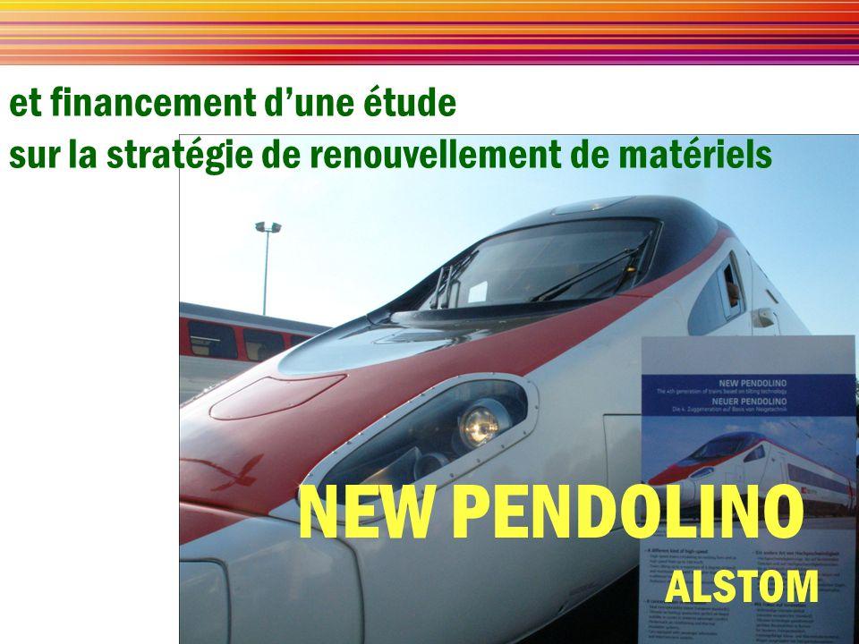 et financement dune étude sur la stratégie de renouvellement de matériels NEW PENDOLINO ALSTOM
