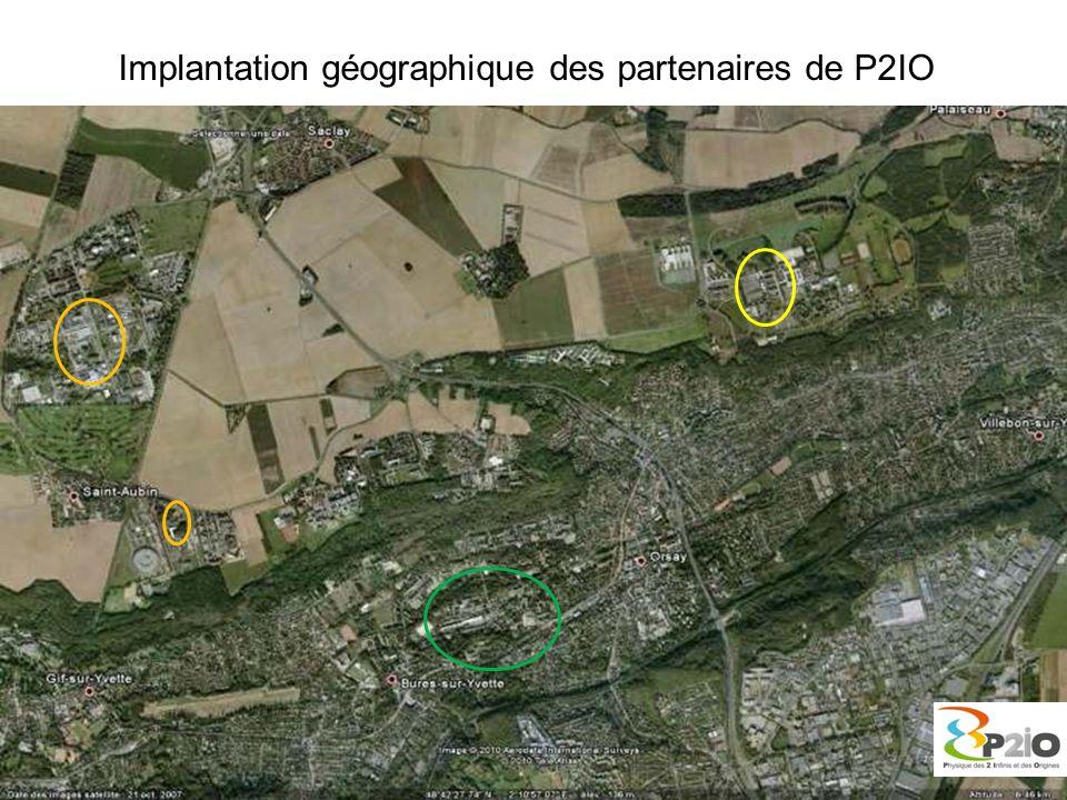 Implantation géographique des partenaires de P2IO