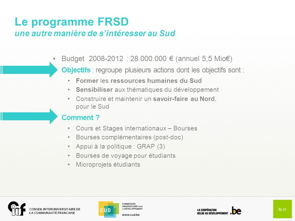 9 / 27 PROJETS INTERUNIVERSITAIRES CIBLÉS (PIC)