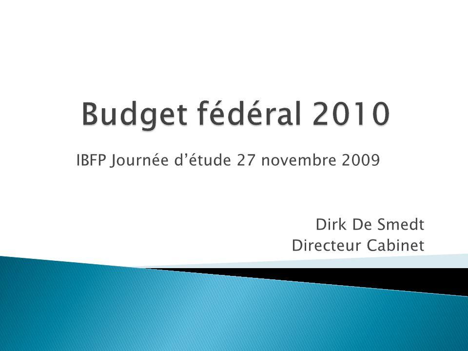 IBFP Journée détude 27 novembre 2009 Dirk De Smedt Directeur Cabinet