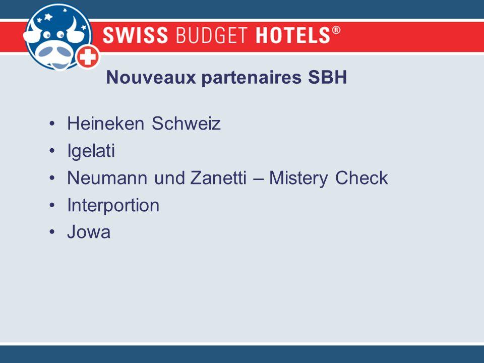 Nouveaux partenaires SBH Heineken Schweiz Igelati Neumann und Zanetti – Mistery Check Interportion Jowa