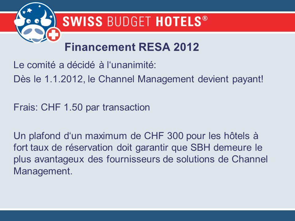 Le comité a décidé à lunanimité: Dès le 1.1.2012, le Channel Management devient payant! Frais: CHF 1.50 par transaction Un plafond dun maximum de CHF