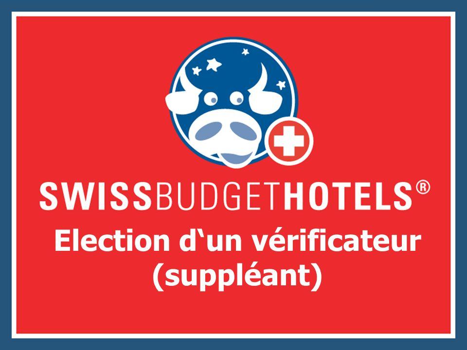 Election dun vérificateur (suppléant)