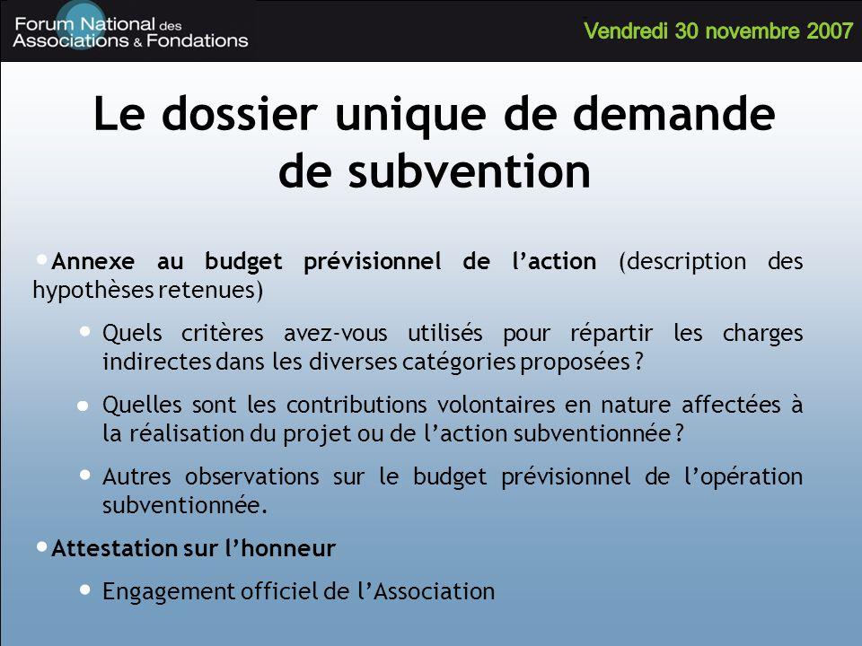 Annexe au budget prévisionnel de laction (description des hypothèses retenues) Quels critères avez-vous utilisés pour répartir les charges indirectes