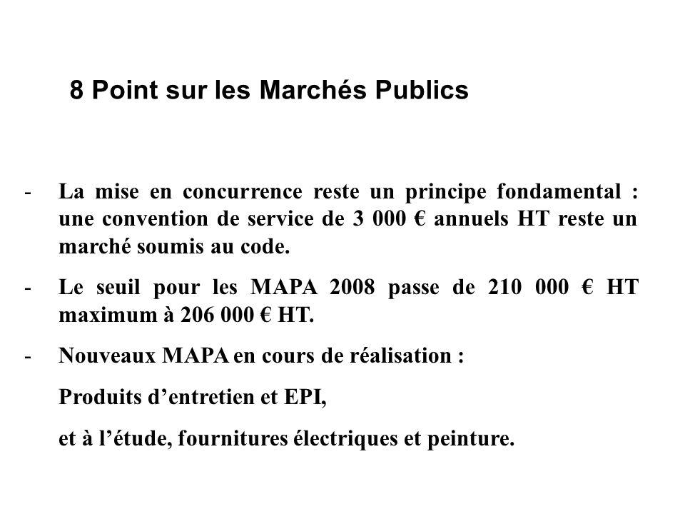 8 Point sur les Marchés Publics -La mise en concurrence reste un principe fondamental : une convention de service de 3 000 annuels HT reste un marché soumis au code.