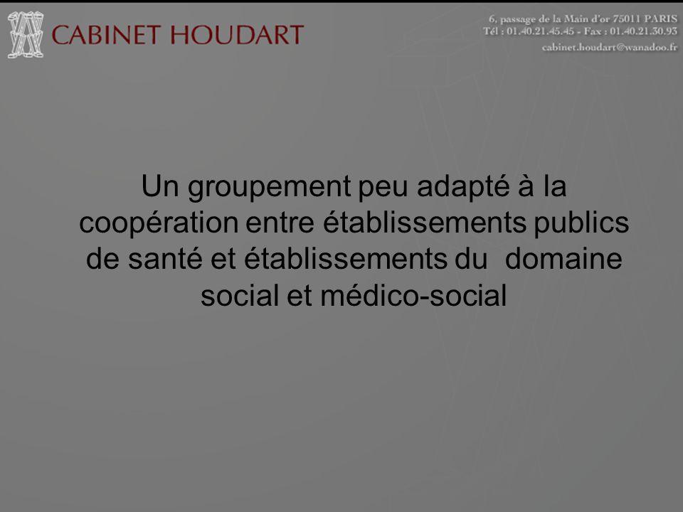 Un groupement peu adapté à la coopération entre établissements publics de santé et établissements du domaine social et médico-social