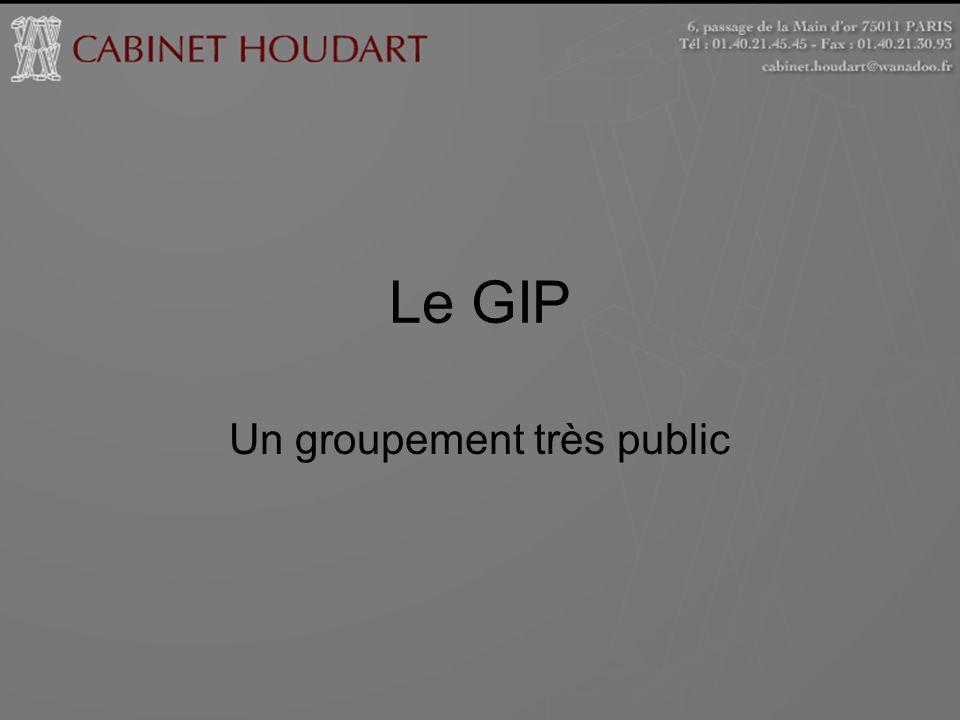 Le GIP Un groupement très public