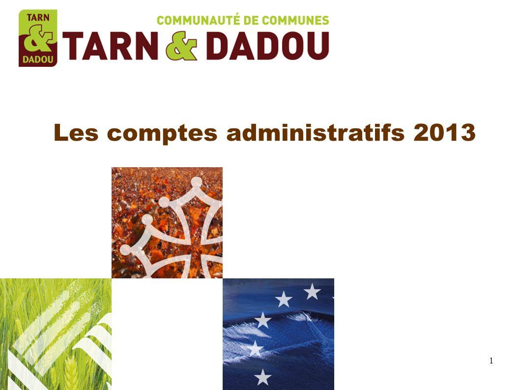 1 Les comptes administratifs 2013