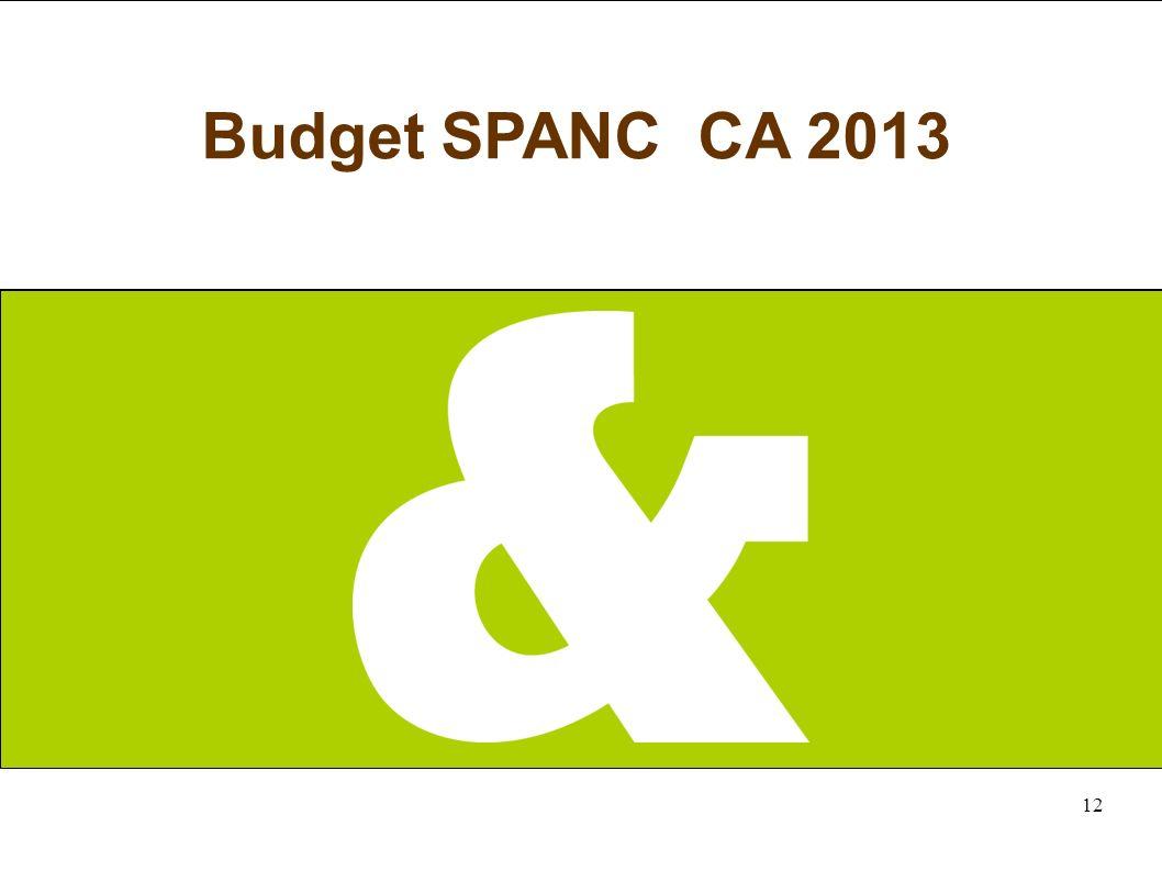 12 Budget SPANC CA 2013