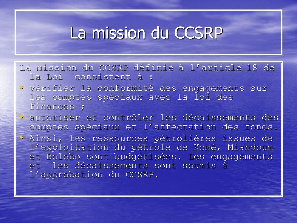 La mission du CCSRP La mission du CCSRP La mission du CCSRP définie à larticle 18 de la Loi consistent à : La mission du CCSRP définie à larticle 18 d
