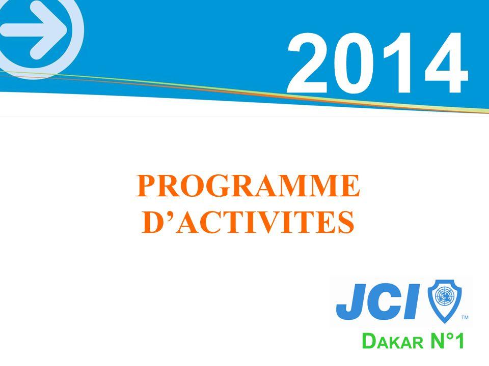 2014 D AKAR N°1 PROGRAMME DACTIVITES