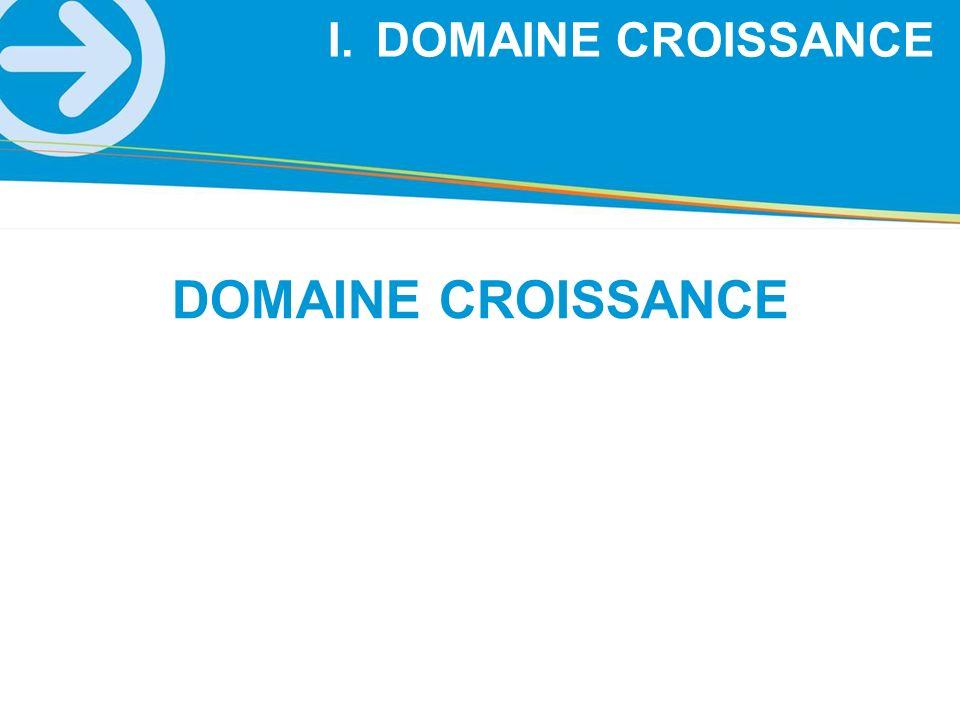 DOMAINE CROISSANCE I.DOMAINE CROISSANCE