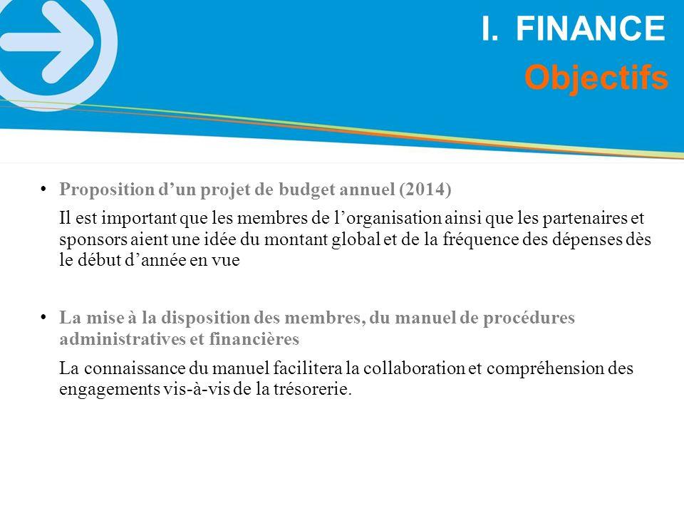 Proposition dun projet de budget annuel (2014) Il est important que les membres de lorganisation ainsi que les partenaires et sponsors aient une idée