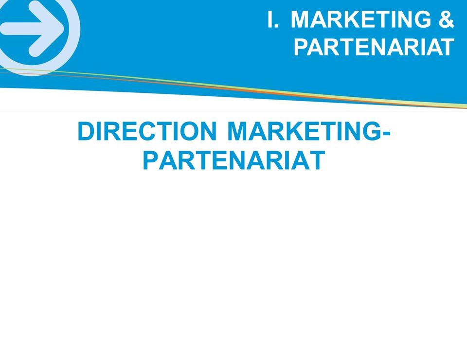 I.MARKETING & PARTENARIAT DIRECTION MARKETING- PARTENARIAT