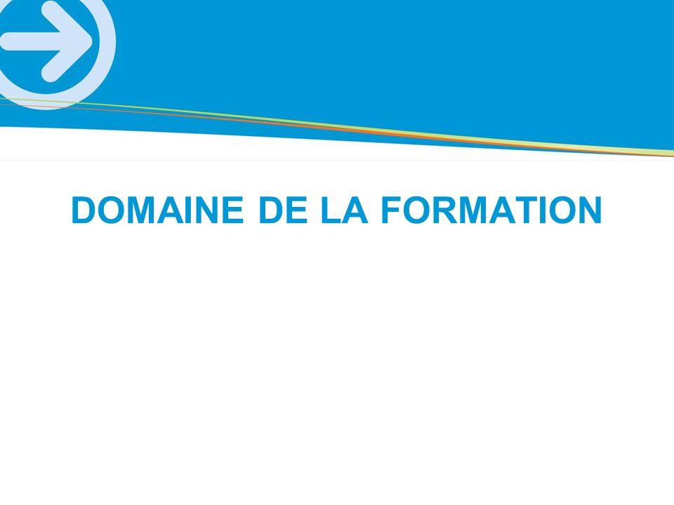 DOMAINE DE LA FORMATION