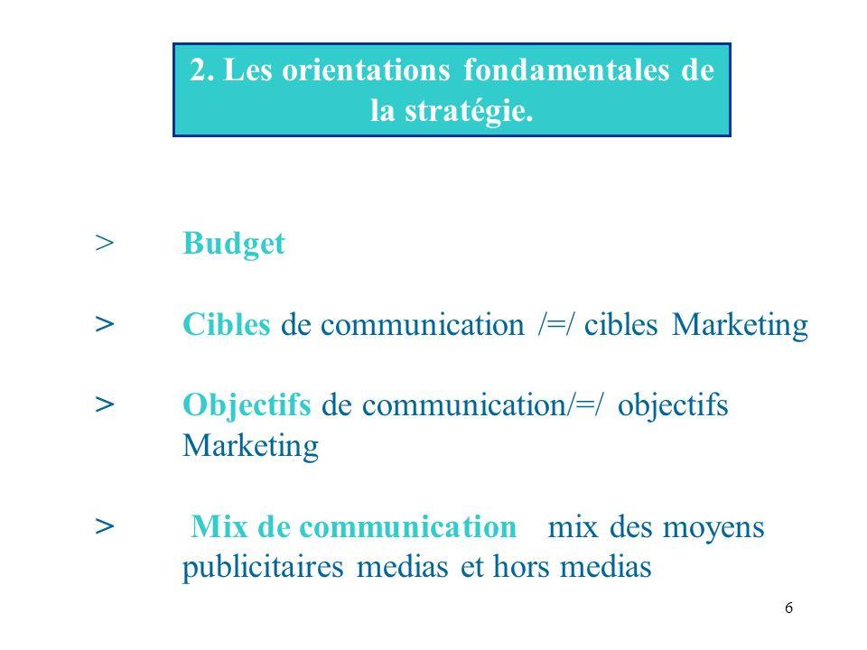 6 2.Les orientations fondamentales de la stratégie.