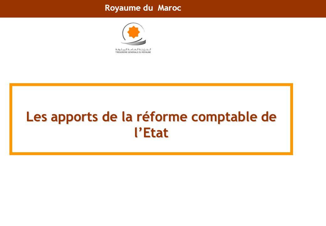 Les apports de la réforme comptable de lEtat Royaume du Maroc