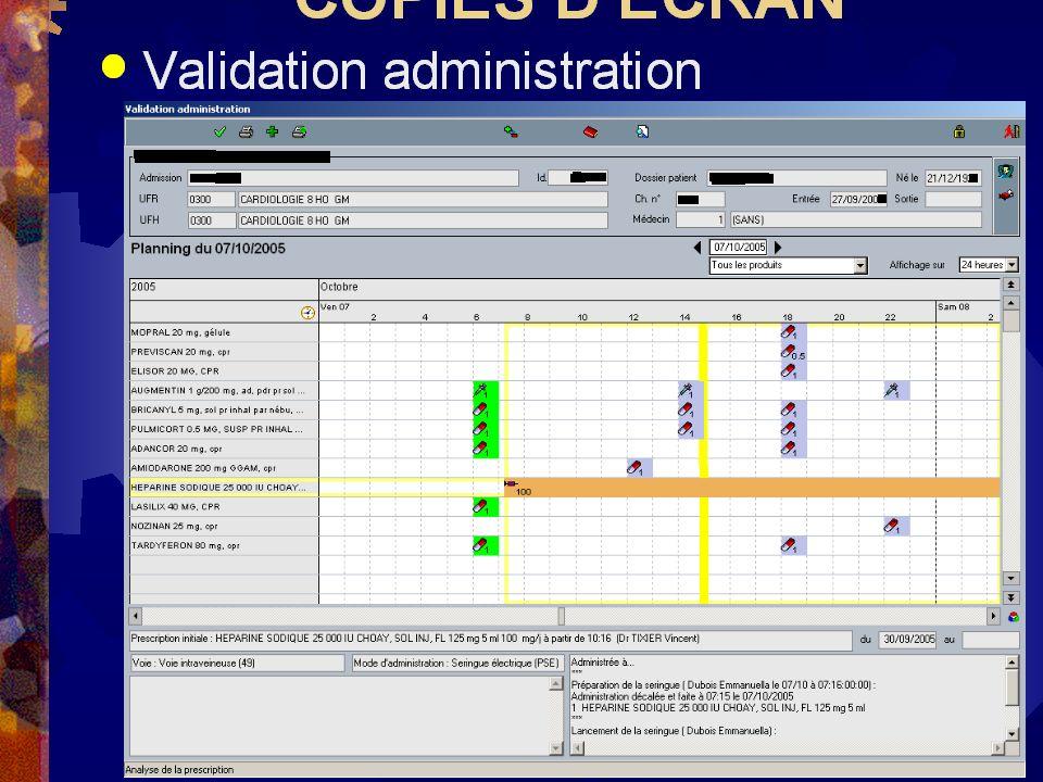 V. Pinon APRHOC 2005 04/10/0519 COPIES DECRAN Validation administration
