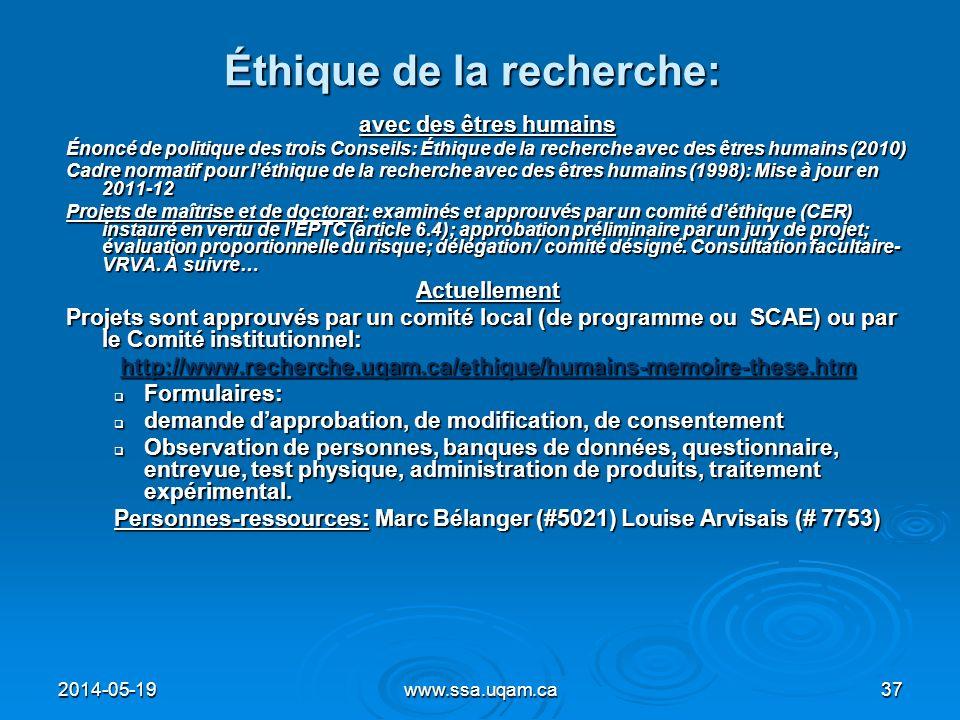 Éthique de la recherche: avec des êtres humains Énoncé de politique des trois Conseils: Éthique de la recherche avec des êtres humains (2010) Cadre no