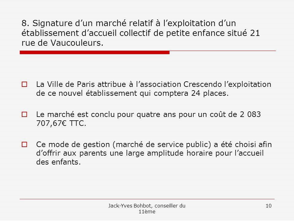 Jack-Yves Bohbot, conseiller du 11ème 10 8.