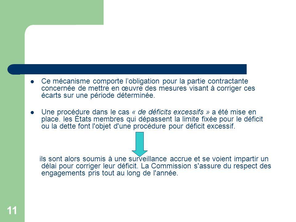 11 Ce mécanisme comporte lobligation pour la partie contractante concernée de mettre en œuvre des mesures visant à corriger ces écarts sur une période