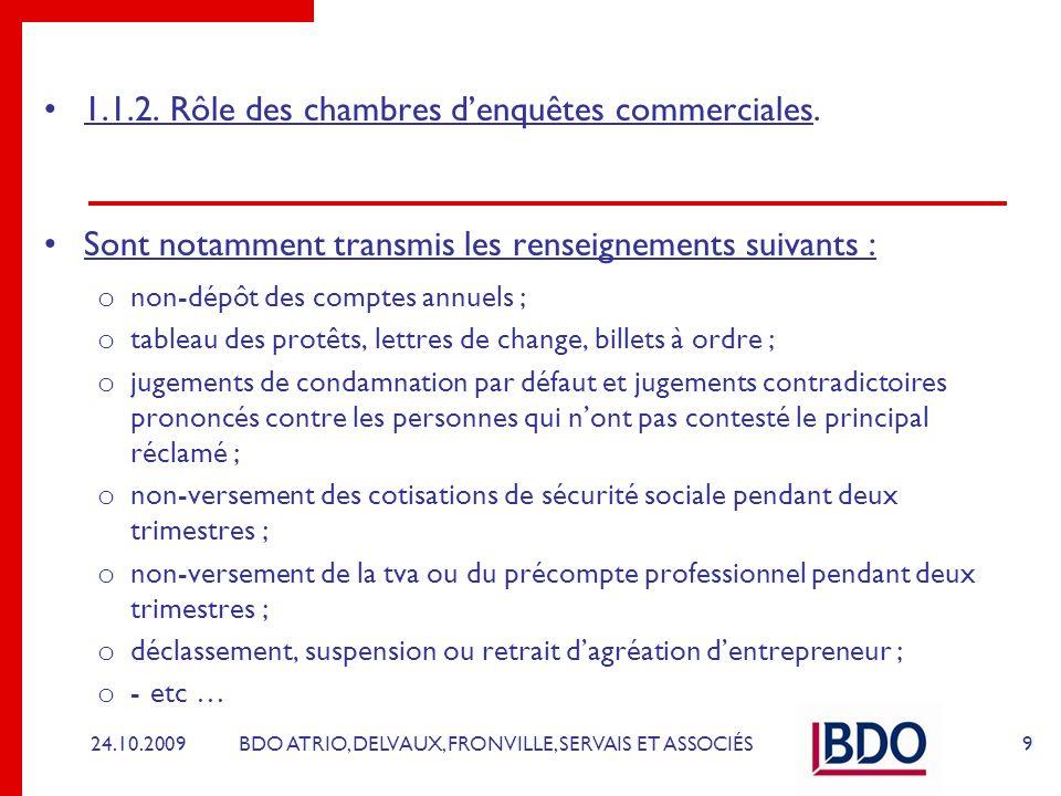 BDO ATRIO, DELVAUX, FRONVILLE, SERVAIS ET ASSOCIÉS 1.1.3.