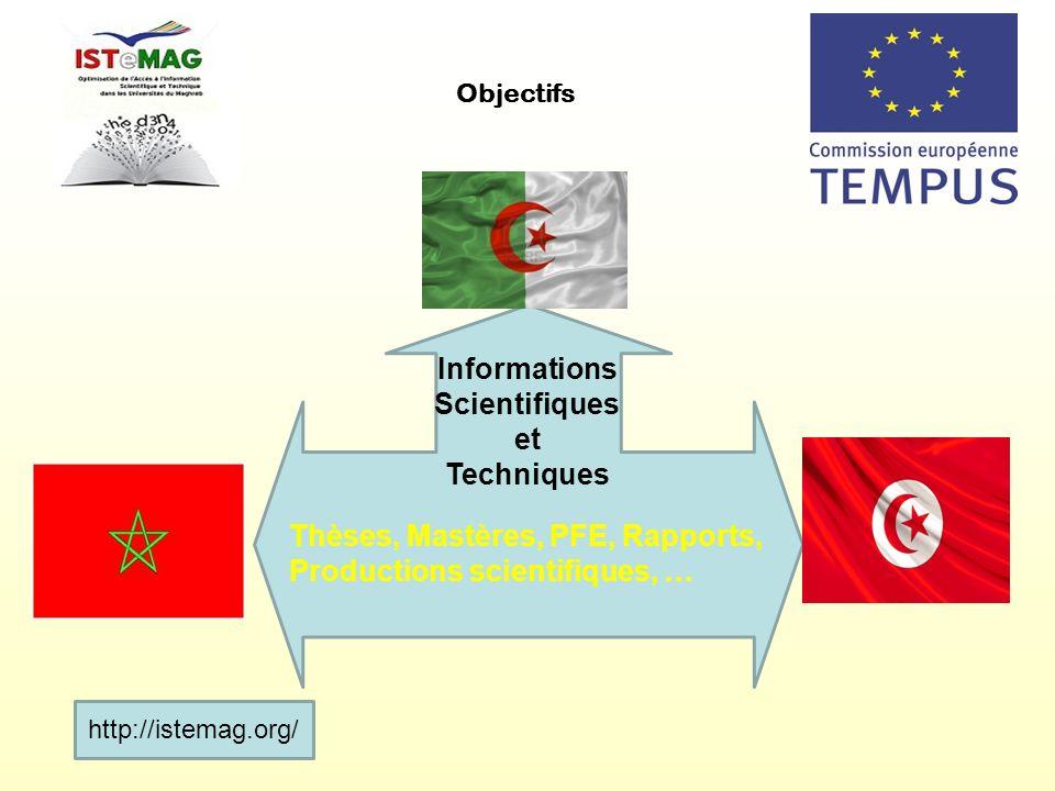 Informations Scientifiques et Techniques Thèses, Mastères, PFE, Rapports, Productions scientifiques, … Objectifs http://istemag.org/