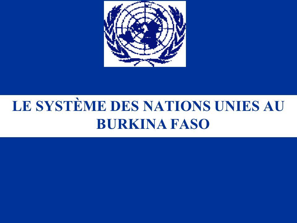 LE SYSTÈME DES NATIONS UNIES AU BURKINA FASO