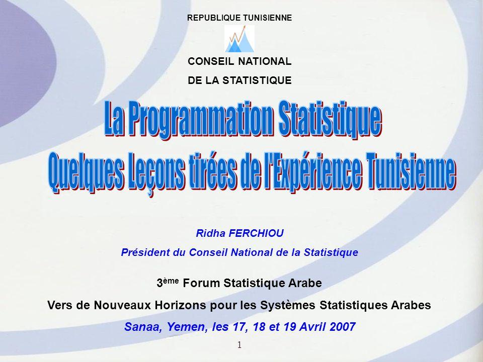 II - Exécution, Suivi et Evaluation du Programme National de la Statistique II - 1.