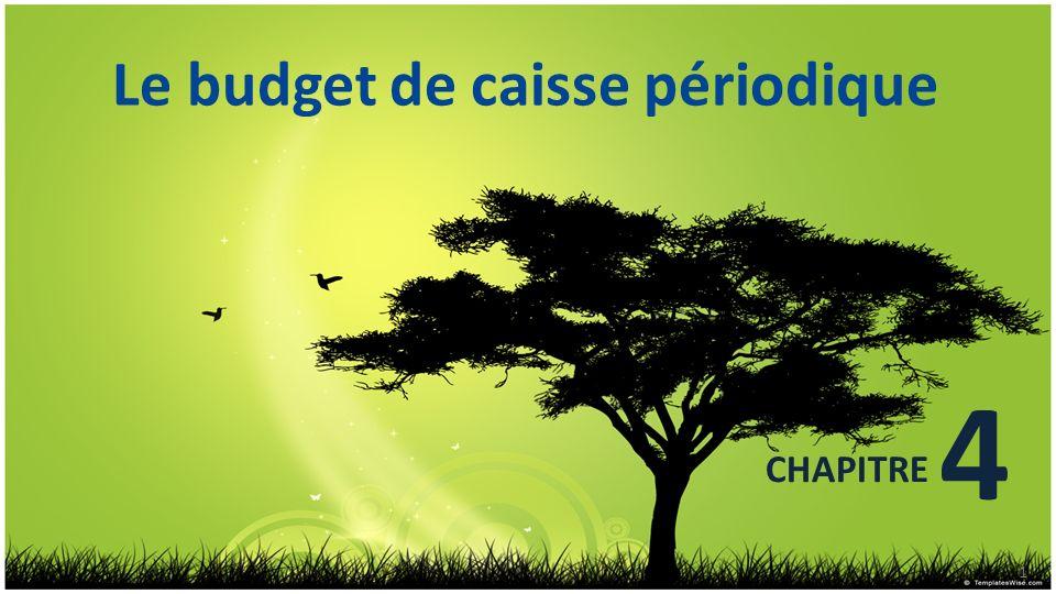 CHAPITRE 4 Le budget de caisse périodique 1