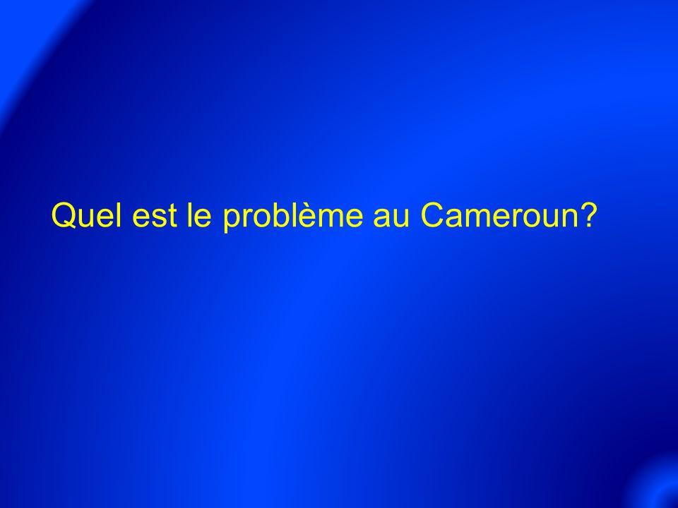 Quel est le problème au Cameroun?