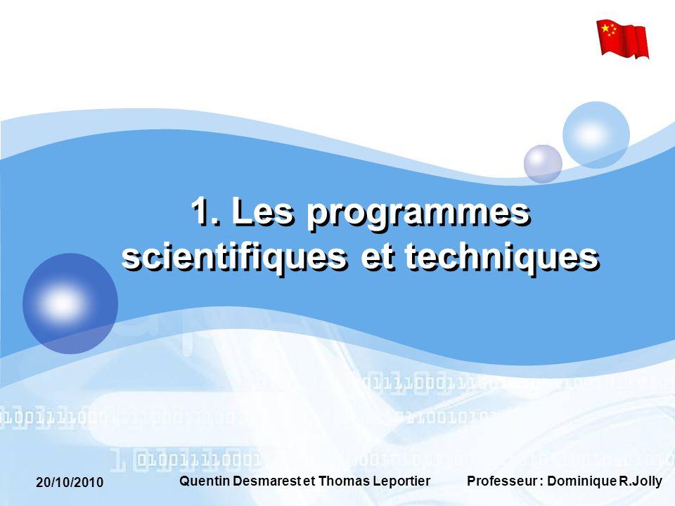 20/10/2010 Professeur : Dominique R.JollyQuentin Desmarest et Thomas Leportier 3.