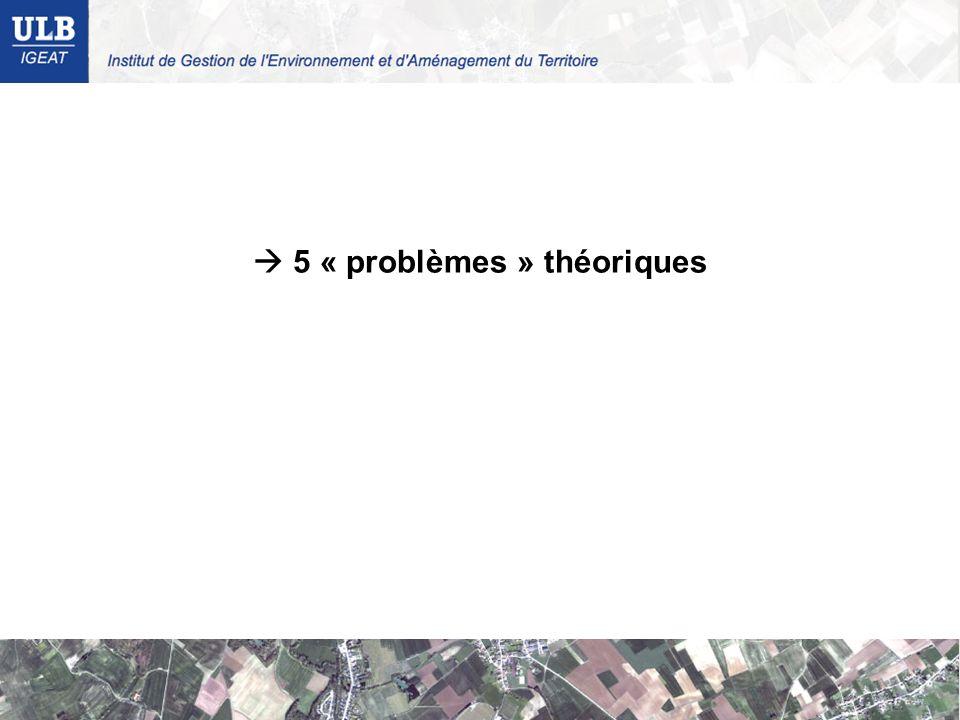 5 « problèmes » théoriques