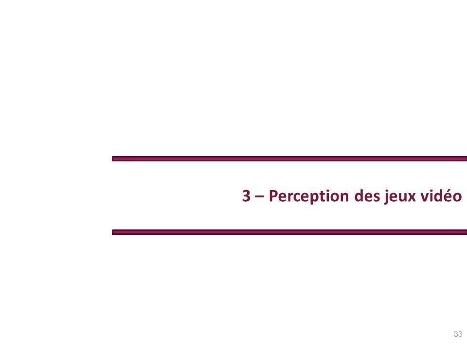 3 – Perception des jeux vidéo 33
