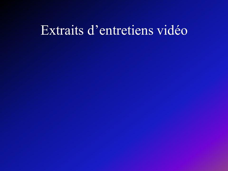 Extraits dentretiens vidéo