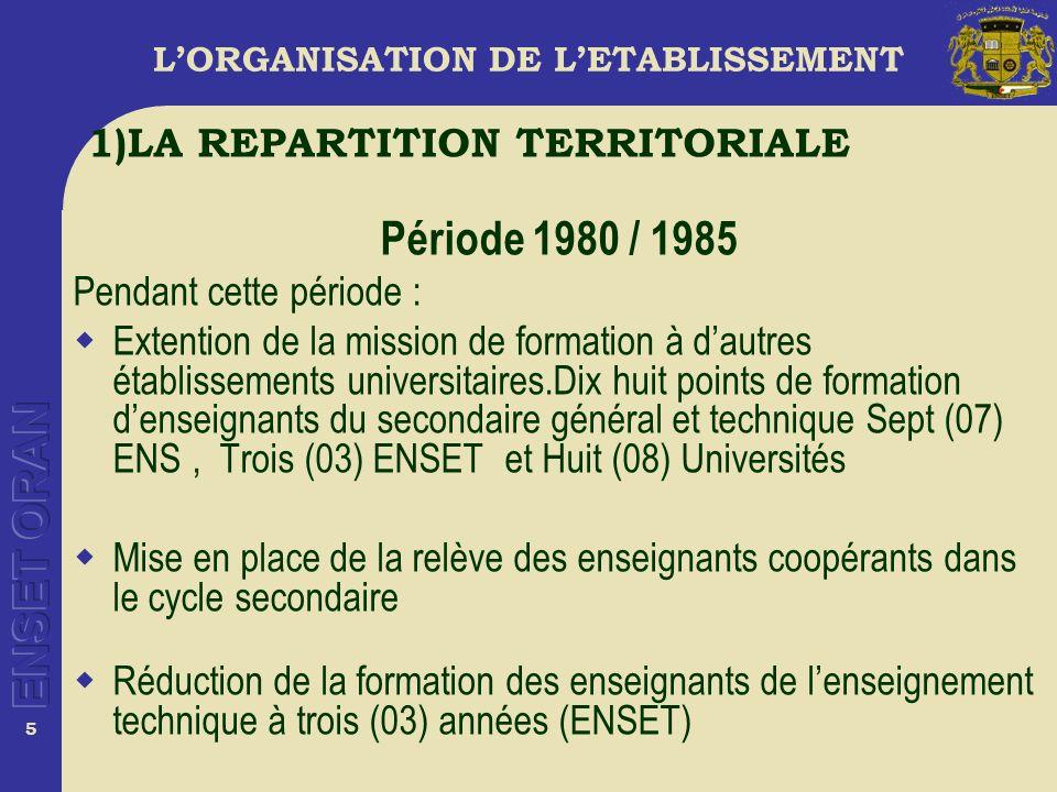 16 LORGANISATION DE LETABLISSEMENT Le projet de decret 2005 Perspective dinstitutionalisation des structures et des organes pédagogiques et scientifiques.