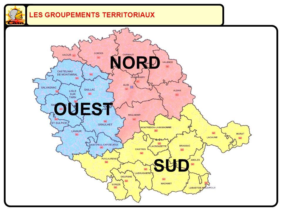LES GROUPEMENTS TERRITORIAUX NORD SUD OUEST