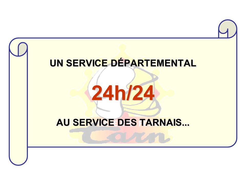 UN SERVICE DÉPARTEMENTAL 24h/24 AU SERVICE DES TARNAIS...