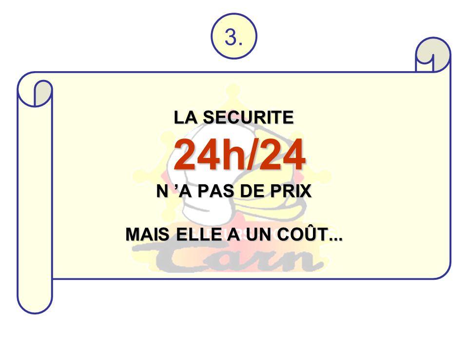 LA SECURITE 24h/24 N A PAS DE PRIX MAIS ELLE A UN COÛT... 3.