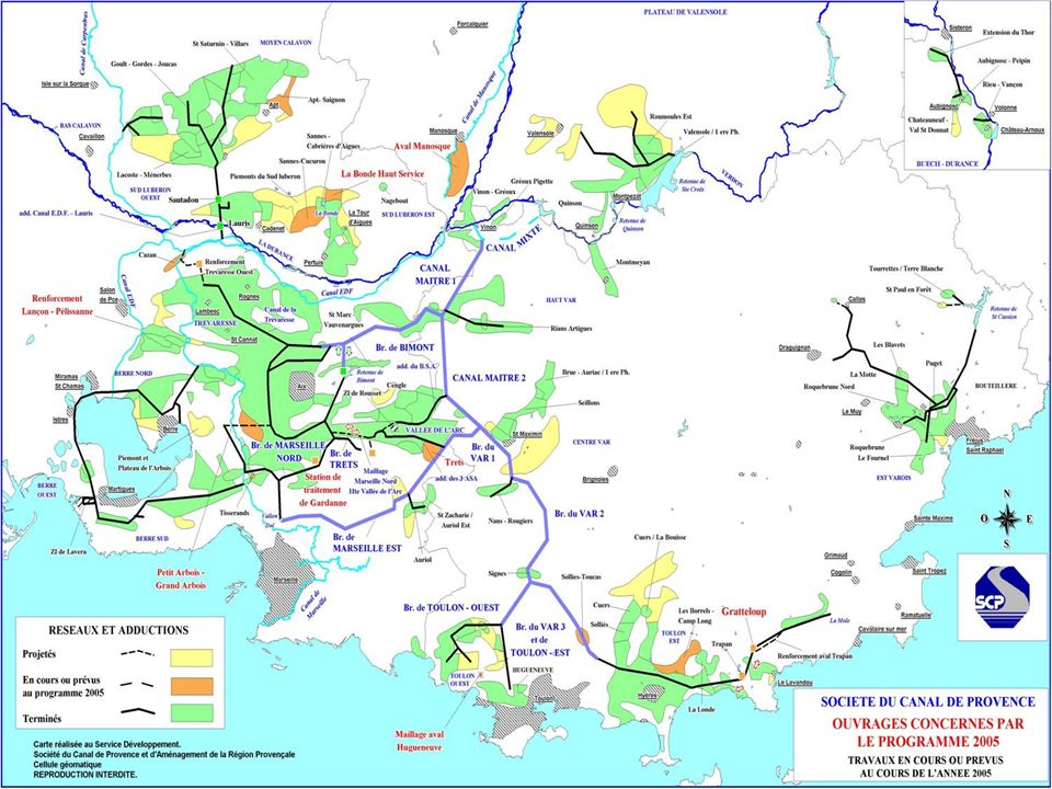 1963 : Décret de concession de lEtat pour le Canal de Provence DUREE : 75 ANS ( jusquen 2038 ) Possibilité de prélever sur le Verdon 660 millions de m